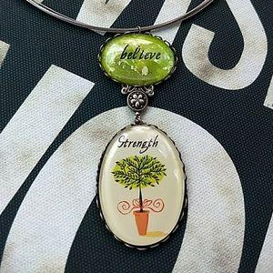 Handmade Believe Charm Necklace